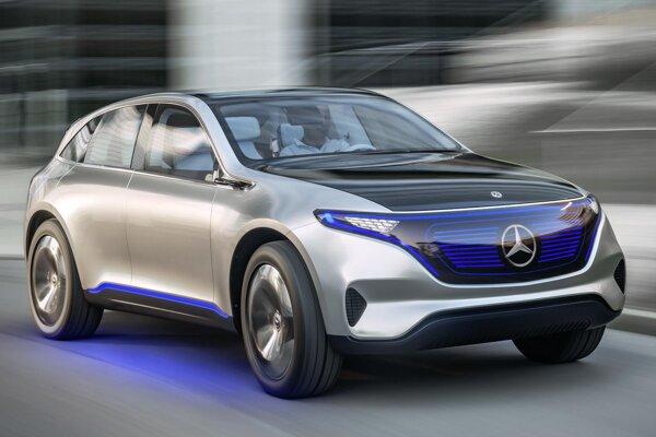 Štúdia elektromobilu Generation EQ. Štúdia, predstavená na parížskom autosalóne, je predzvesťou sériových elektromobilov firmy Mercedes-Benz, ktorá pre ne vytvorila subznačku EQ.