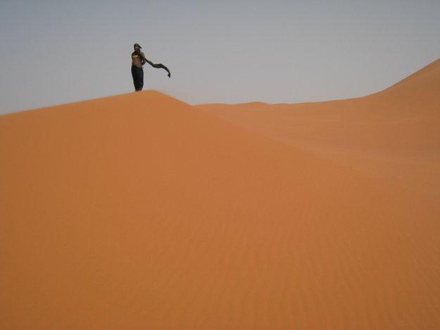 Na alžírskej Sahare.