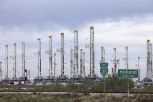 Ropné ložisko v oblasti Wolfcamp v Severnej Dakote.