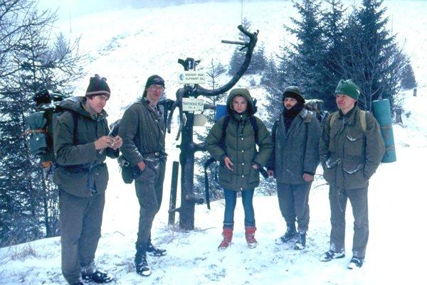 Trampovia v Slovenskom raji na Stratenskej píle v roku 1993.