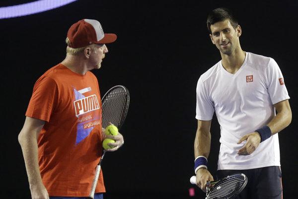 Novak Djokovič s Borisom Beckerom.