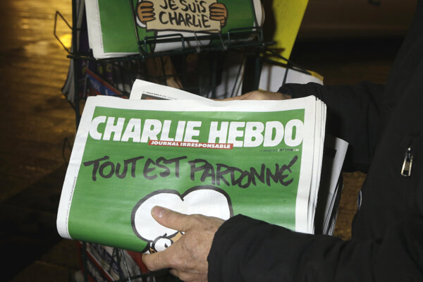 Satirický týždenník Charlie Hebdo.