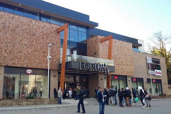 Za posledný rok sa na Slovensku otvorili tri nákupné centrá, na snímke Forum v Poprade.