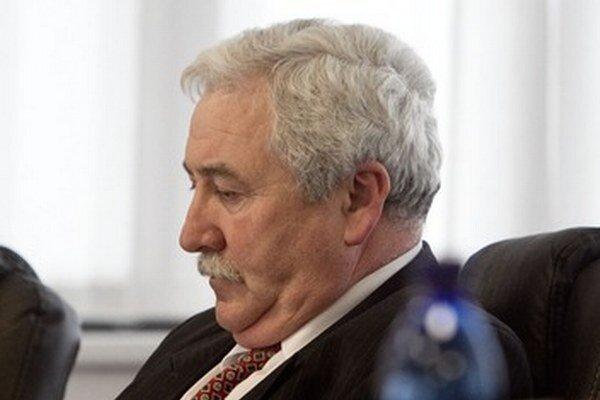 Igor Burger počas zasadnutia Súdnej Rady.