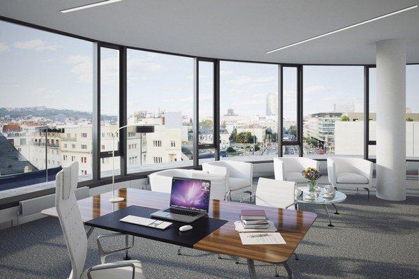 Čaká sa na dokončenie administratívnych budov Twin city B a C, prvej fázy projektu Zuckermandel, Panorama Business II, Rosum a Uniq Staromestská (na vizualizácii).
