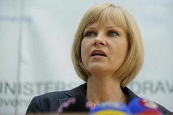 Ministerka zdravoníctva Zuzana Zvolenská.