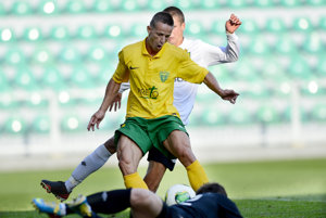 Róbert Pich (v zelenom) ešte v čase, kedy hrával za Žilinu.