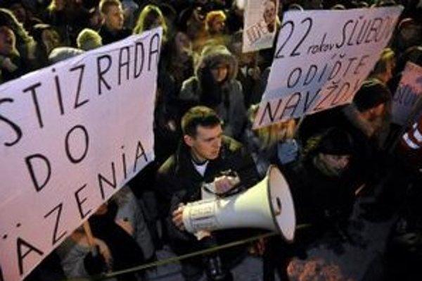 Protest Gorila v Bratislave.
