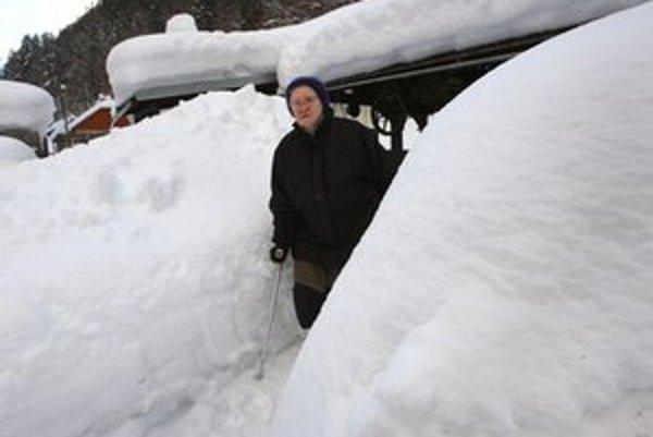 Staré Hory su zavalené kopami snehu.