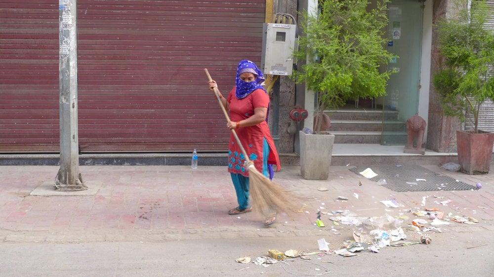 Ženy v Indii často vykonávajú práce, ktoré sú najmenej platené.