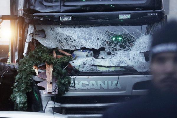 Kamión, ktorým Tunisan zabíjal na vianočných trhoch.