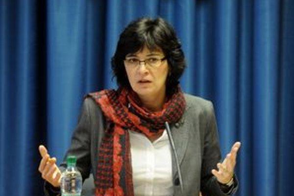 Ministerka Lucia Žitňanská.