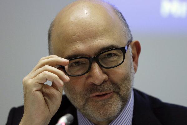Eurokomisár pre ekonomické a finančné vzťahy Pierre Moscovici