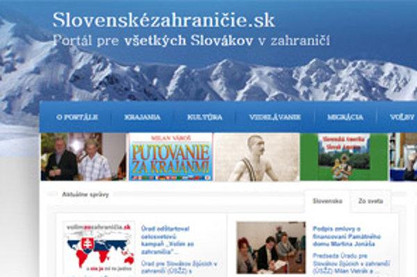 Web Slovenské zahraničie je vo výstavbe.