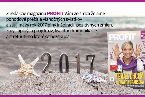 Profit želá príjemné Vianoce a 2017
