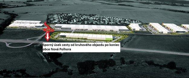 Priemyselný park Nová Polhora. Takto by mal v budúcnosti vyzerať.