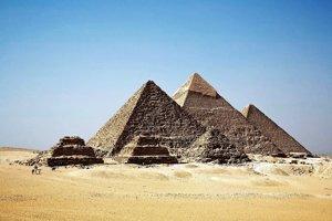 Pohľad na pyramídy v Gíze.