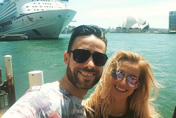 U protinožcov. Moderátorský párik Roman Juraško a Diana Hágerová v týchto dňoch spoznávajú Austráliu, a tak nový rok privítali medzi prvými.