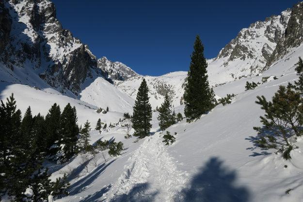 Malá studená dolina. Počasie bolo skvelé.