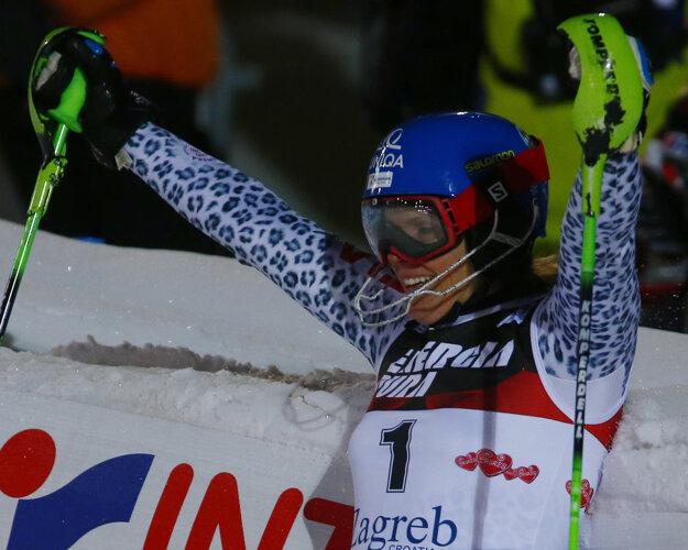 Veronika Velez-Zuzulová sa raduje z víťazstva.