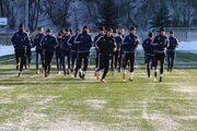 Ružomberskí futbalisti počas zimnej prípravy.