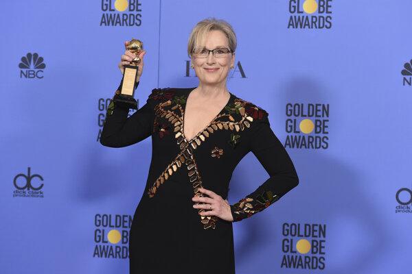 Meryl Streep. Získala Zlatý glóbus za celoživotné dielo a dala najavo svoju nespokojnosť s nastupujúcim prezidentom.