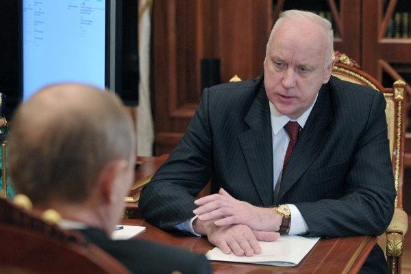 Bastrykin na stretnutí s Putinom.