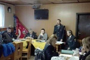 Z výročnej členskej schôdze dobrovoľných hasičov zNovej Bystrice.