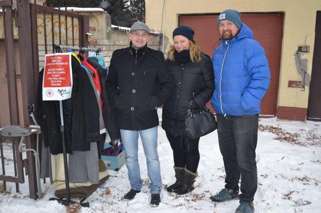 Iniciátori myšlienky. Zľava Martin Matejka, Viki Potášová, Viktor Štefančík.