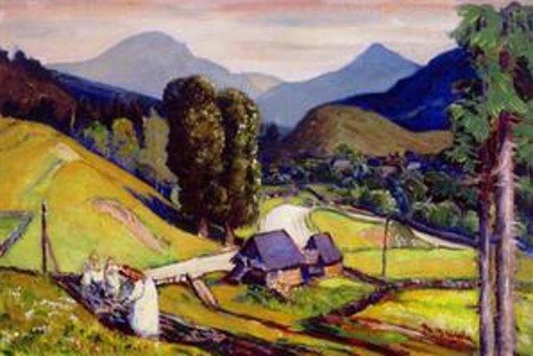 Slovenská pôda na obraze Martina Benku.