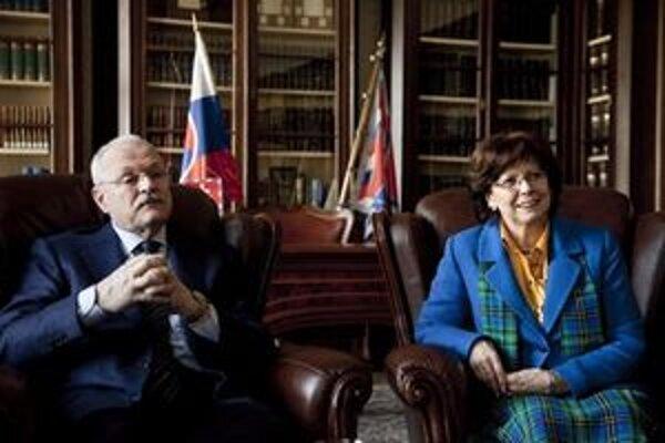 Prezidentský pár.