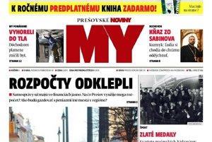 Titulná strana týždenníka Prešovské noviny č. 2/2017