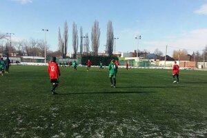 Záber z prípravného zápasu dorastencov FKM v Galante