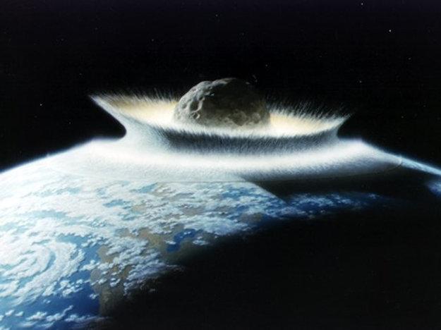 Zrážka s asteroidom.