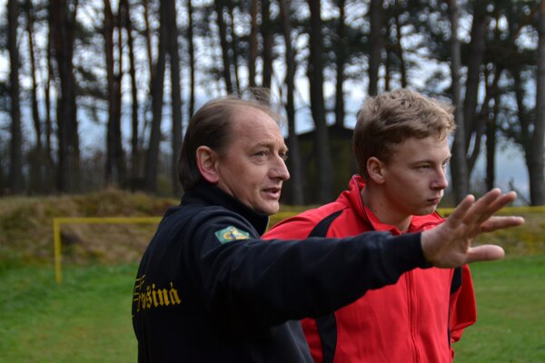Tréner MFK Dobšiná Július Strelka.