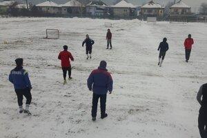 Tréning futbalistov FK Gemerská Hôrka.