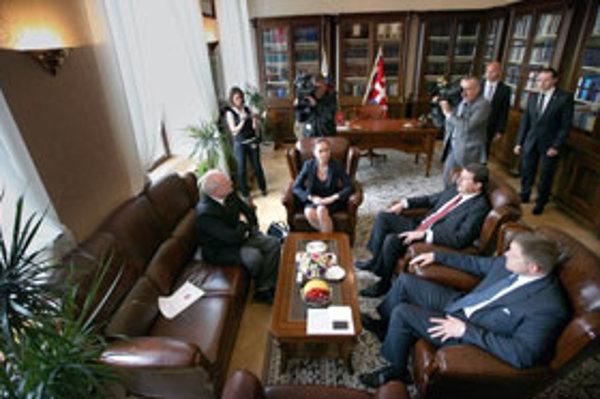 Stretnutie v Prezidentskom paláci.