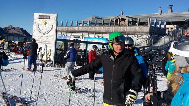 Franz Klammer ako lyžiarsky sprievodca, na fotografii v Nassfelde