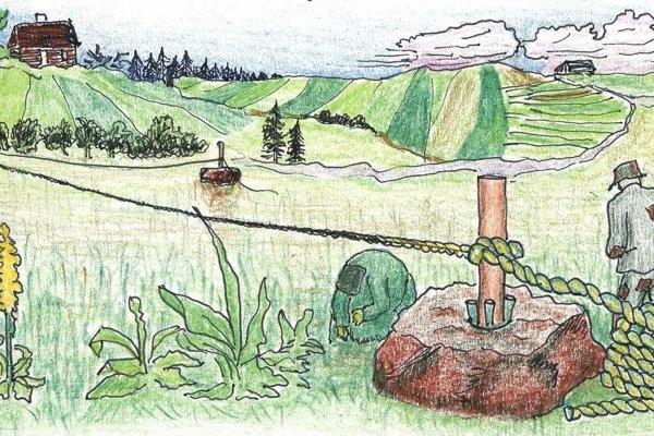 Takto vyzeralo v minulosti pletenie povrazov na Povrazníku.