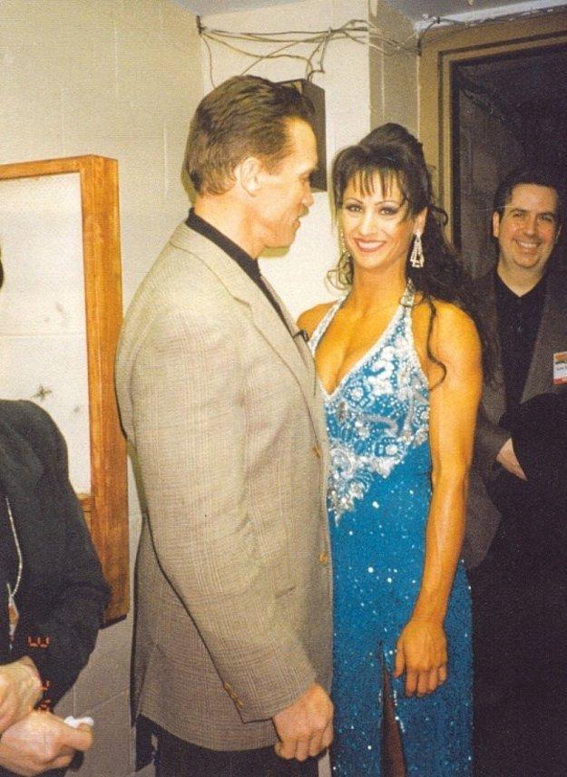 Úspešná fitneska. Počas aktívnej kariéry sa stretla aj s Arnoldom Schwarzeneggerom.