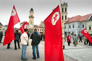 Prvomájové oslavy v Banskej Bystrici.