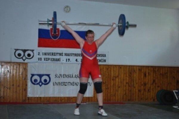 Eleonóra Gogorová počas súťaže.