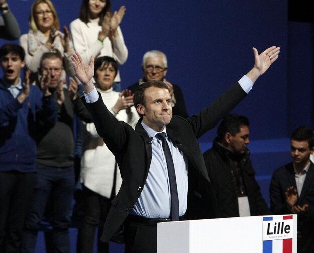 Emmanuel Macron, kandidát na francúzskeho prezidenta.
