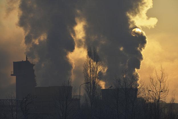 Okolie železiarní U. S. Steel Košice.