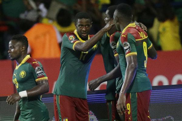 Futbalisti Kamerunu.