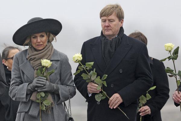 Holandský kráľ Viliam Alexander a kráľovná Máxima.