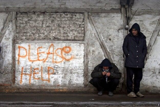 Utečenci v Srbsku zažili aj teploty okolo -17°C.