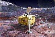Koncept misie na mesiac Europa.