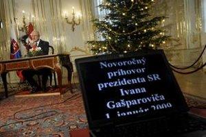 Prezident Ivan Gašparovič počas novoročného prejavu.