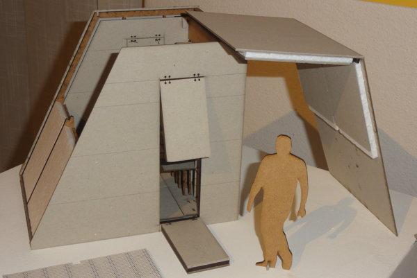 Študenti vymysleli aj modely buniek pre festivalových návštevníkov.